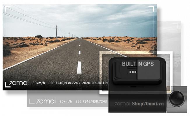 70mai A500 tích hợp sẵn gps